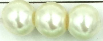 03 Ivory - cream- glass pearls - beads - all sizes